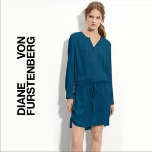 Diane Von Furstenberg Blue Sliced Dress